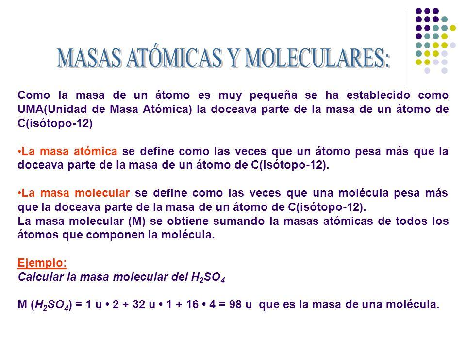 Definición actual: El mol es la cantidad de sustancia de un sistema que contiene tantas entidades elementales (átomos, moléculas, iones...) como átomos hay en 12 g de carbono-12 ( 12 C).