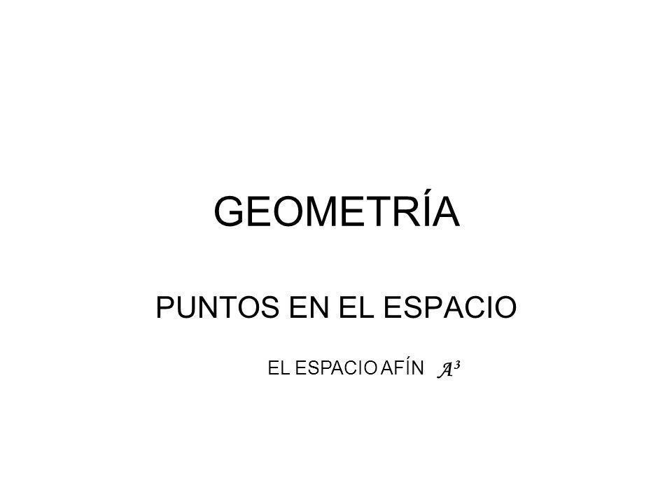 GEOMETRÍA PUNTOS EN EL ESPACIO EL ESPACIO AFÍN A3A3