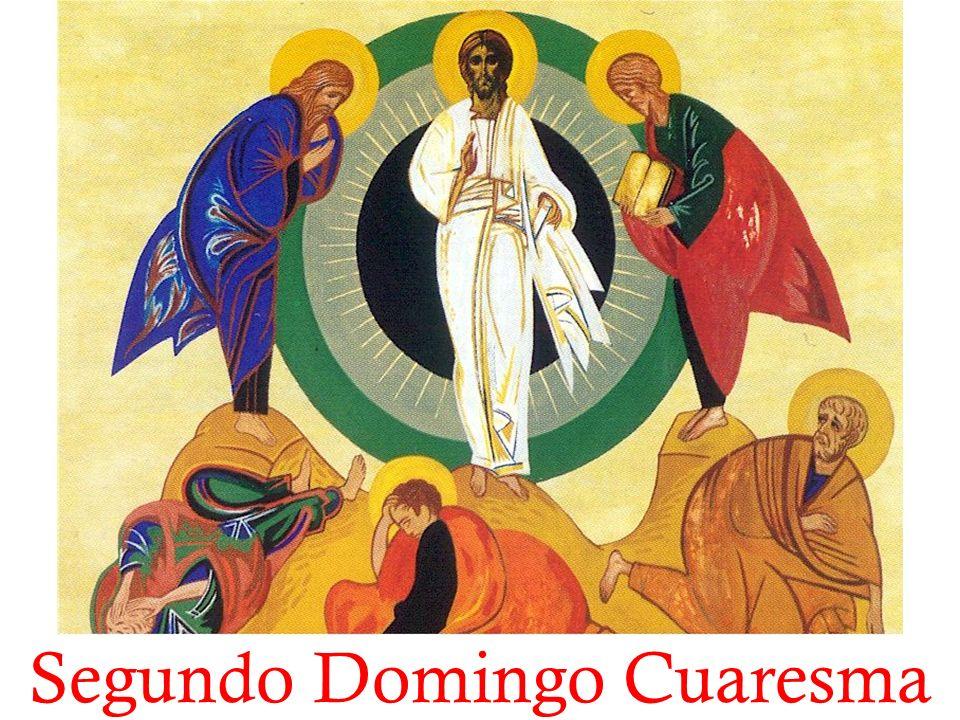 Lectura del santo Evangelio según San Marcos En aquel tiempo, Jesús se llevó a Pedro, a Santiago y a Juan, subió con ellos solos a una montaña alta, y se transfiguró delante de ellos.
