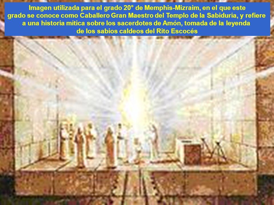 Imagen utilizada para el grado 20° de Memphis-Mizraim, en el que este grado se conoce como Caballero Gran Maestro del Templo de la Sabiduría, y refier