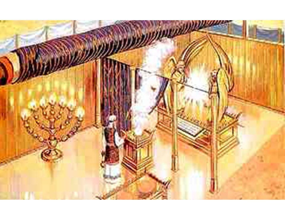 «Además, construirás el Tabernáculo con diez cortinas (los Sephiroth), de lino finamente tejido (Emanación), azul (Creación), púrpura (Formación) y es