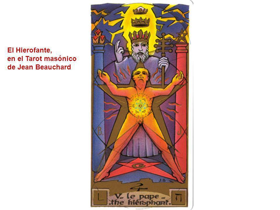 El Hierofante, en el Tarot masónico de Jean Beauchard