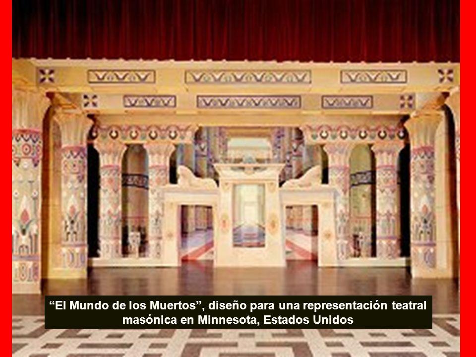 El Mundo de los Muertos, diseño para una representación teatral masónica en Minnesota, Estados Unidos