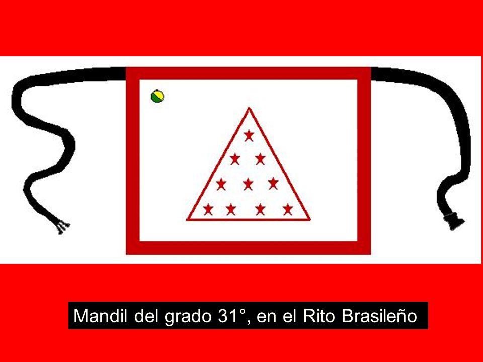 Mandil del grado 31°, en el Rito Brasileño