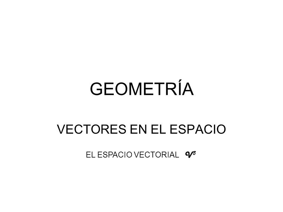 GEOMETRÍA VECTORES EN EL ESPACIO EL ESPACIO VECTORIAL V3V3
