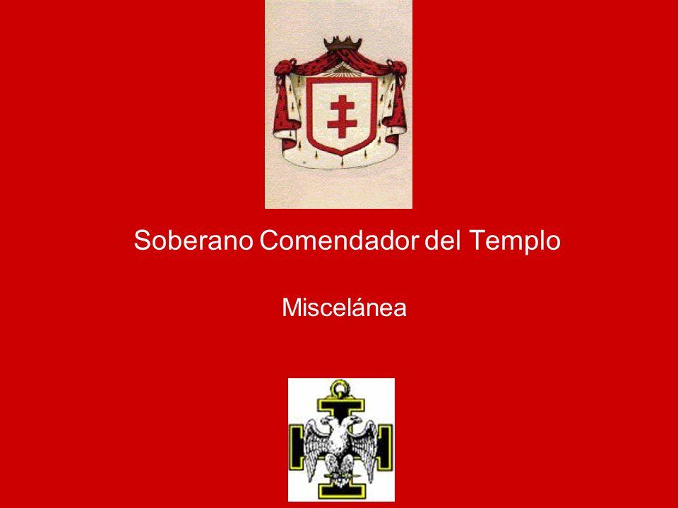 Soberano Comendador del Templo Miscelánea