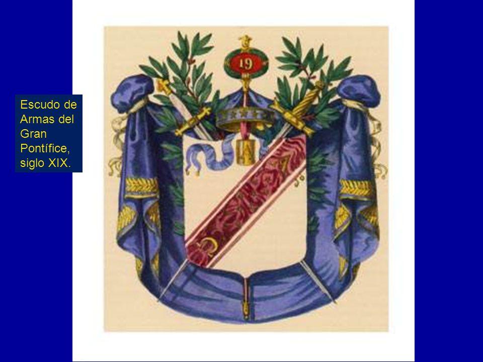 Escudo de Armas del Gran Pontífice, siglo XIX.