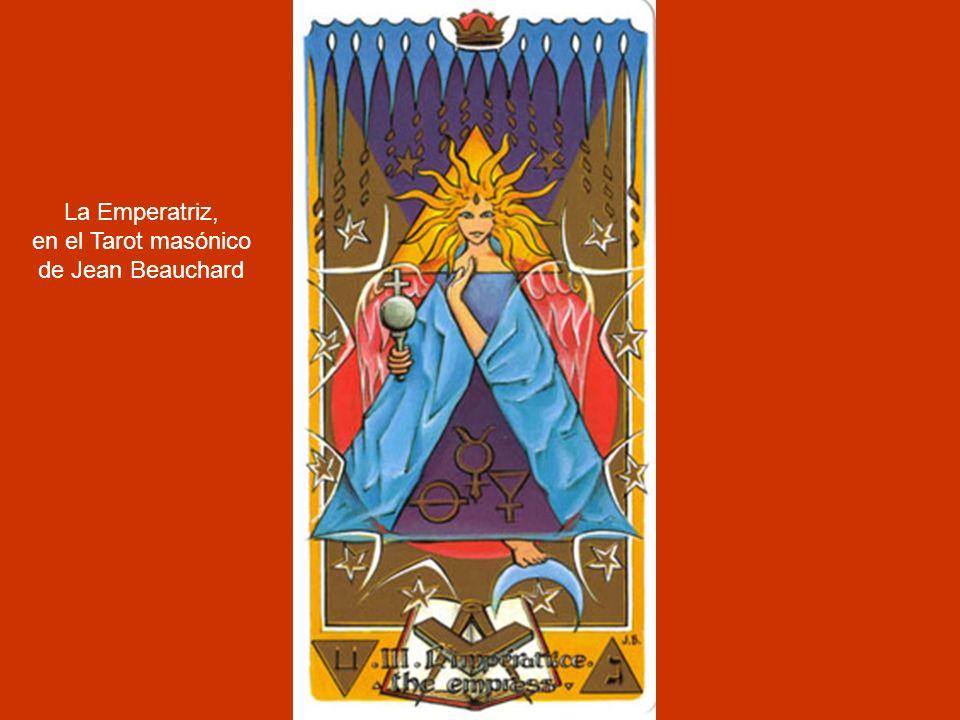 La Gran Sacerdotisa, en el Tarot masónico de Jean Beauchard.