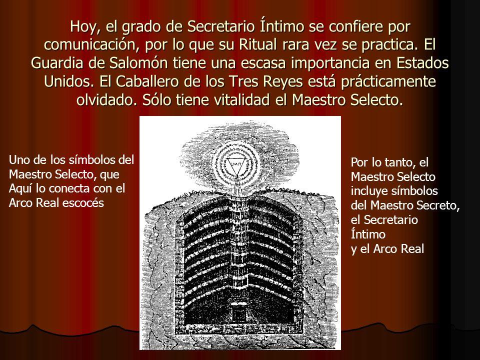 Los orígenes del grado de Secretario Íntimo… …se remontan al siglo XVIII.