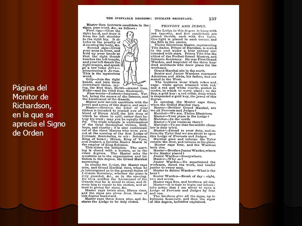 Página del Monitor de Richardson, en la que se aprecia el Signo de Orden