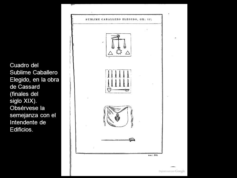 La Leyenda… La Leyenda de este grado es breve, y se reduce básicamente al nombramiento de los Doce Sublimes Caballeros Elegidos.