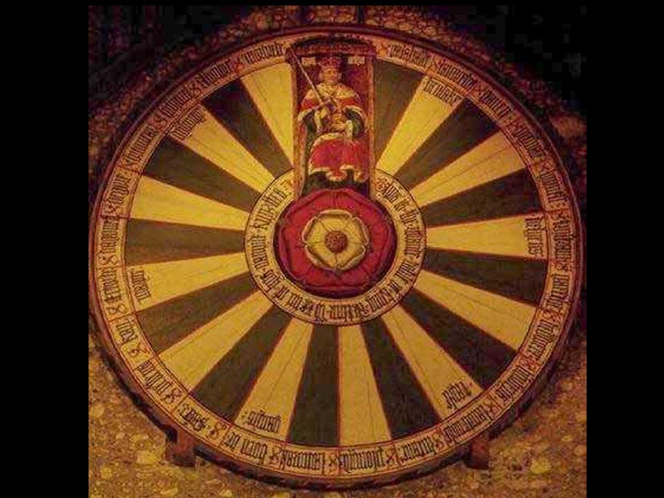 El grabado anterior prácticamente resume todo este grado Una estructura mandálica Con el corazón = rosa en el centro Un círculo dividido en 24 sectores 12 de ellos blancos 12 negros Con asientos para 25 caballeros (24 + el Rey) O para 12 Caballeros duales Y un Rey con la espada de la Justicia Este grabado es la Mesa Redonda de Winchester, y data aproximadamente de 1270