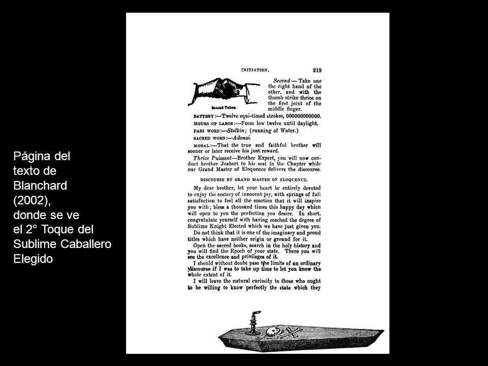Página del texto de Avery Allyn (siglo XIX), en la que se ven signos de distintos grados de la Logia de Perfección.