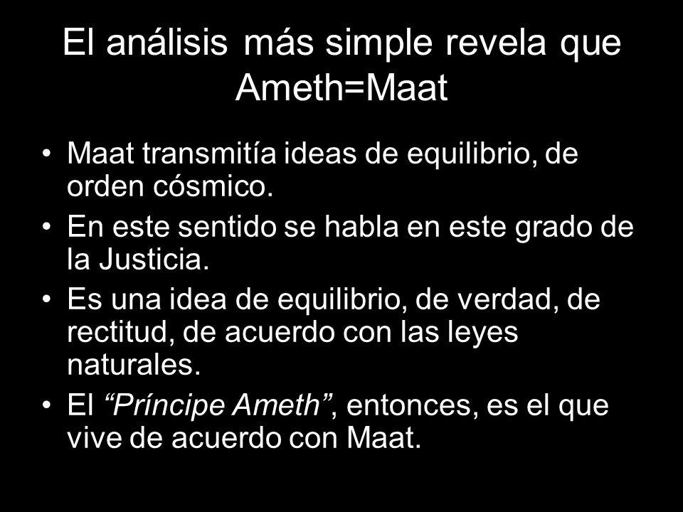 El Caballero en busca de la Diosa es el Príncipe Ameth en busca de Maat.