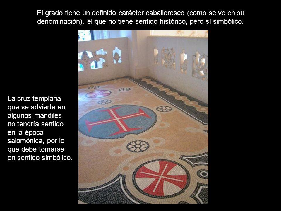 El grado, entonces, es una amalgama de influencias… Masónicas Templarias Alquímicas Gnósticas Todo ello trasciende por completo el marco salomónico convencional