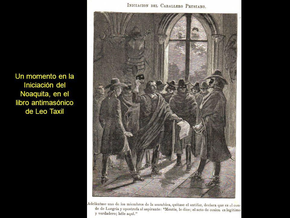 Un momento en la Iniciación del Noaquita, en el libro antimasónico de Leo Taxil