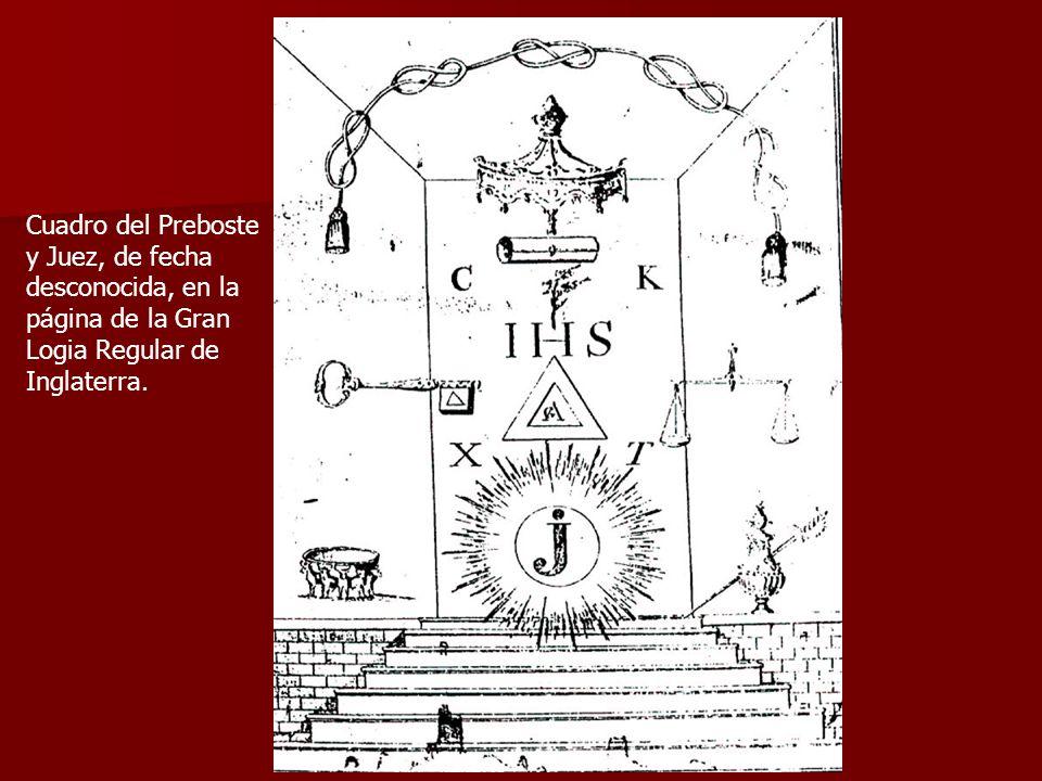 Cuadro del Preboste y Juez, de fecha desconocida, en la página de la Gran Logia Regular de Inglaterra.