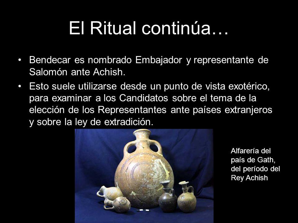 El Ritual continúa… Bendecar es nombrado Embajador y representante de Salomón ante Achish. Esto suele utilizarse desde un punto de vista exotérico, pa