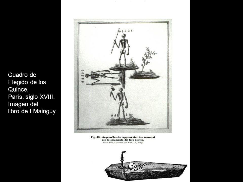 Cuadro de Elegido de los Quince, París, siglo XVIII. Imagen del libro de I.Mainguy