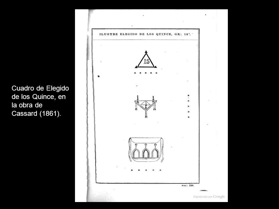 Cuadro de Elegido de los Quince, en la obra de Cassard (1861).