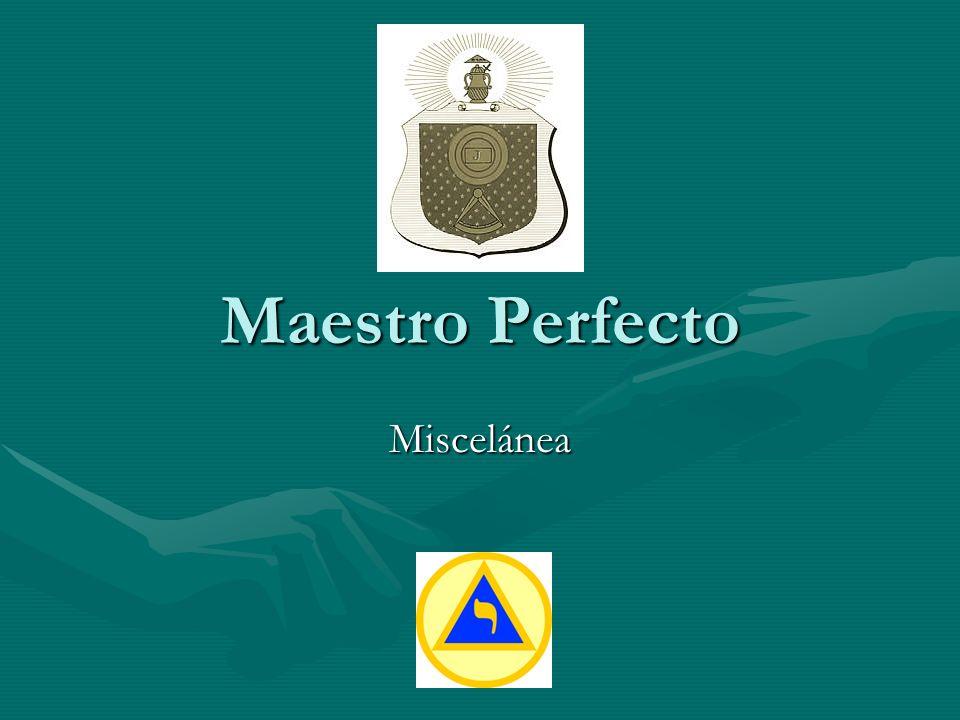 Maestro Perfecto Miscelánea