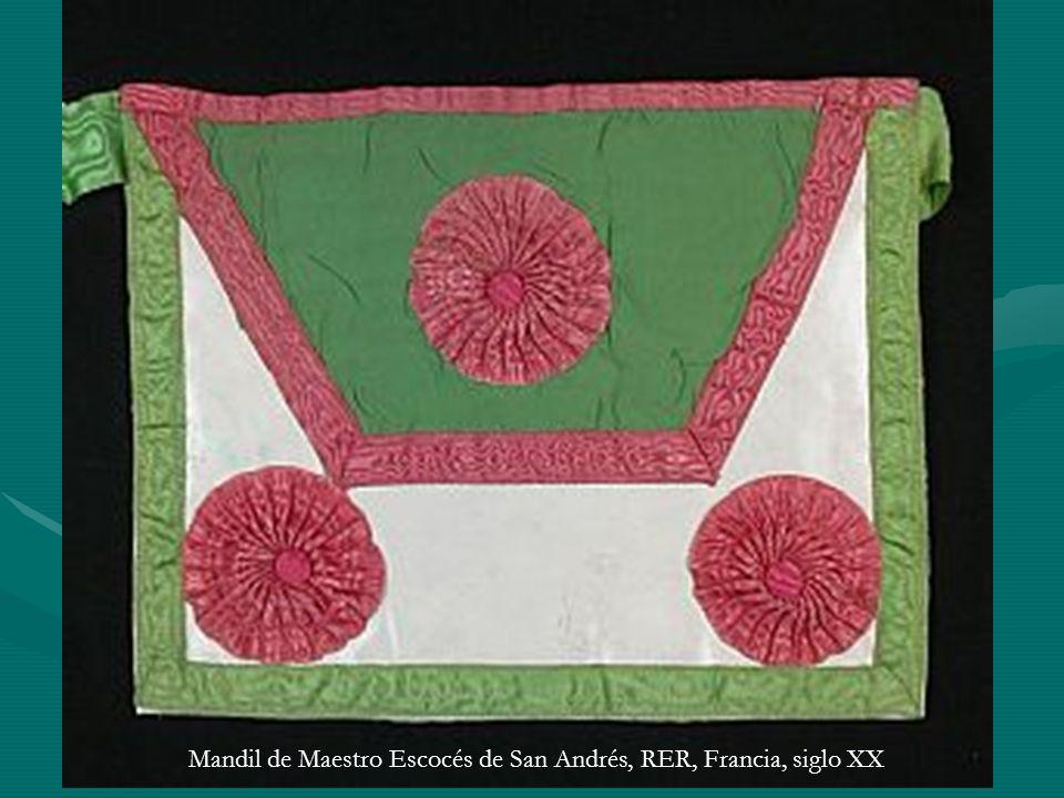 Mandil de Maestro Escocés de San Andrés, RER, Francia, siglo XX