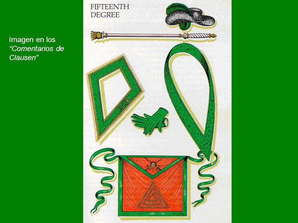 El Sello de Salomón, con símbolos del Caballero de Oriente, según Pike