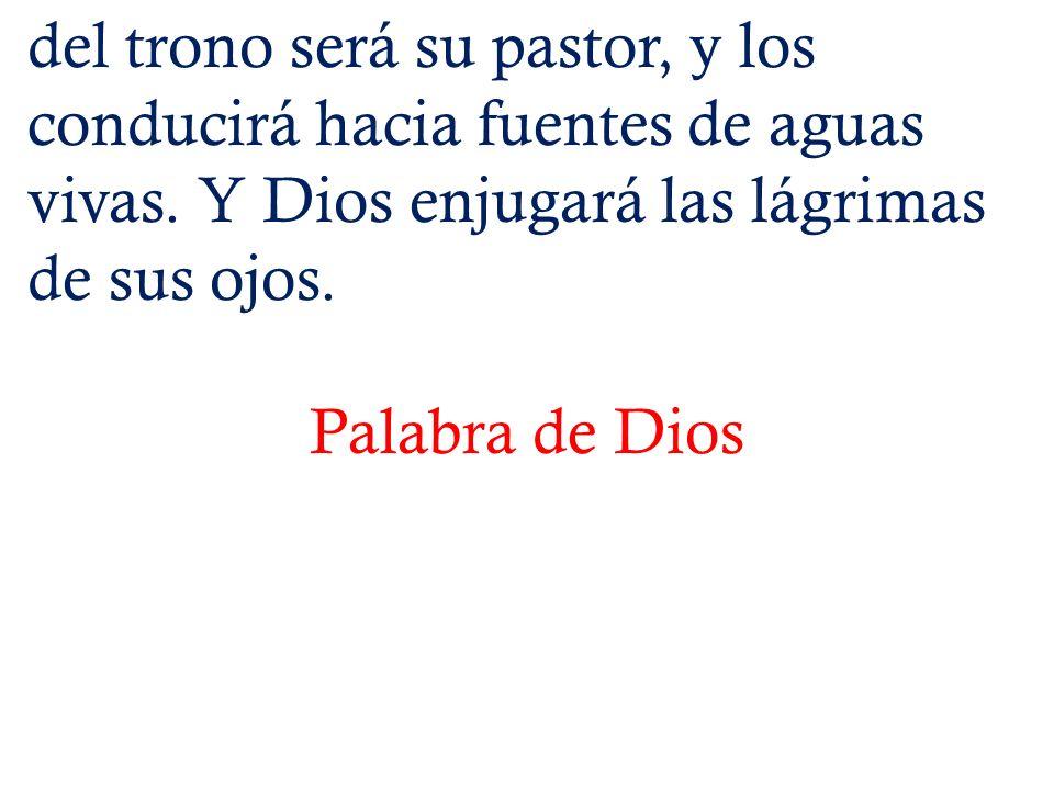 Lectura del Santo Evangelio según San Juan En aquel tiempo, dijo Jesús: -- Mis ovejas escuchan mi voz, y yo las conozco y ellas me siguen, y yo les doy la vida eterna; no perecerán para siempre y nadie las arrebatará de mi mano.