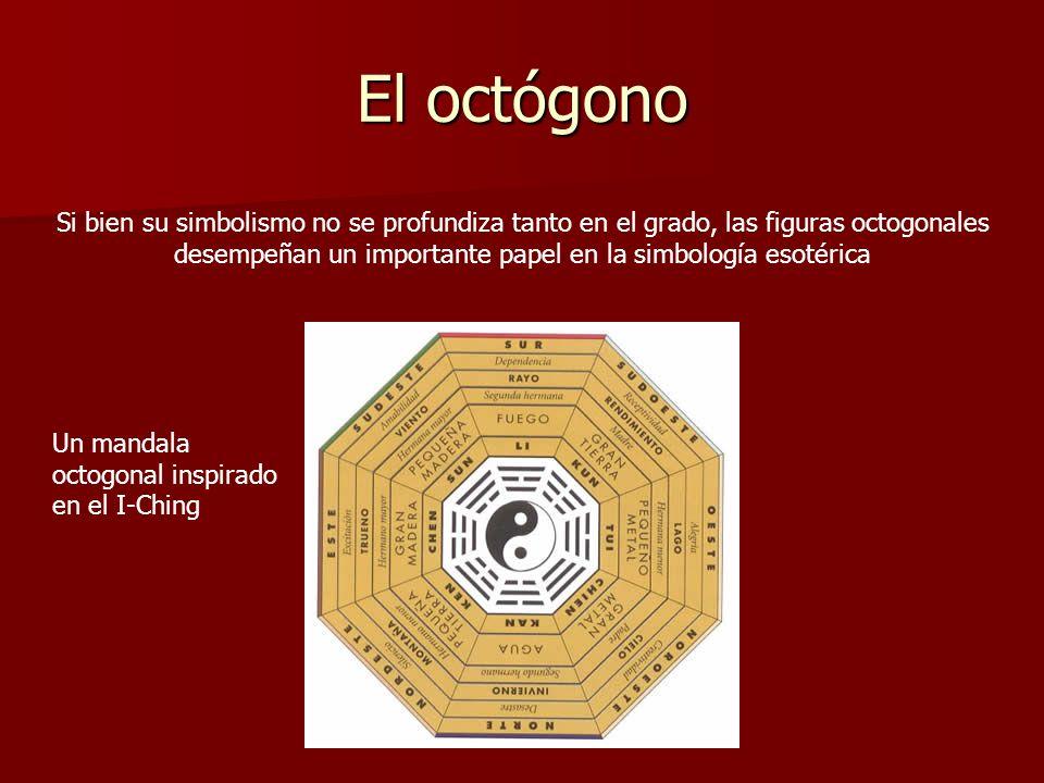 El octógono Si bien su simbolismo no se profundiza tanto en el grado, las figuras octogonales desempeñan un importante papel en la simbología esotéric
