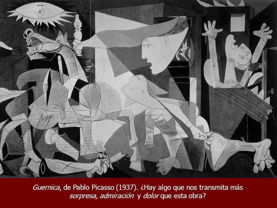 Guernica, de Pablo Picasso (1937). ¿Hay algo que nos transmita más sorpresa, admiración y dolor que esta obra?
