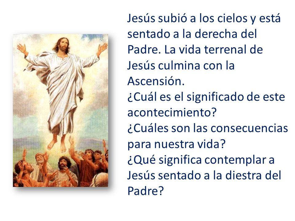 Jesús subió a los cielos y está sentado a la derecha del Padre.