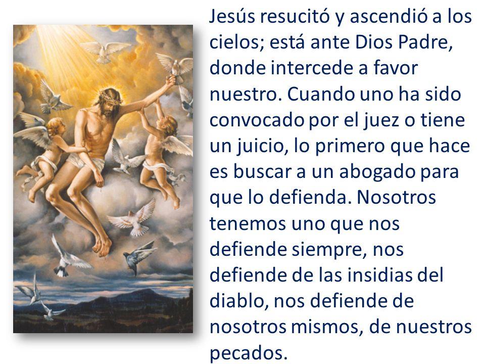 Jesús resucitó y ascendió a los cielos; está ante Dios Padre, donde intercede a favor nuestro.