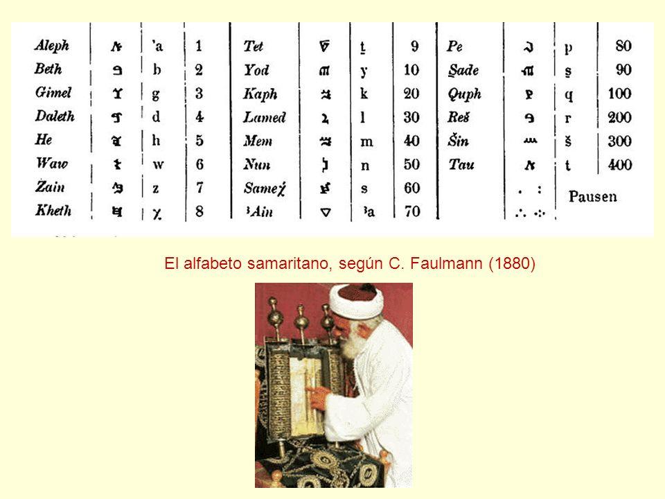 El alfabeto samaritano, según C. Faulmann (1880)