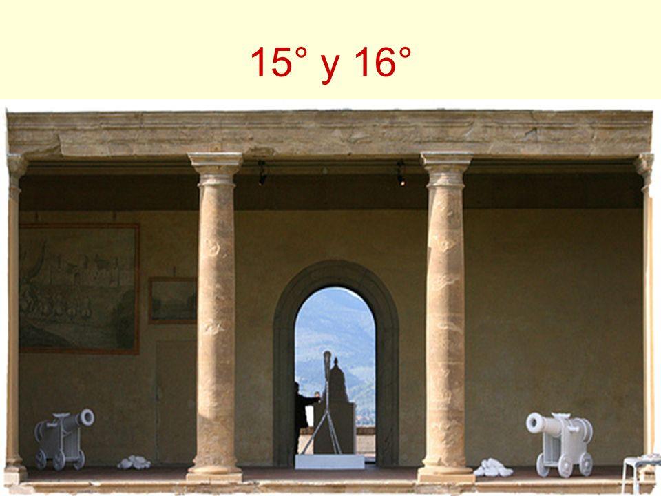 15° y 16° El grado 15° (Caballero de Oriente) y el 16° (Príncipe de Jerusalén) pueden calificarse de grados espejo, en el que uno es el reflejo invert
