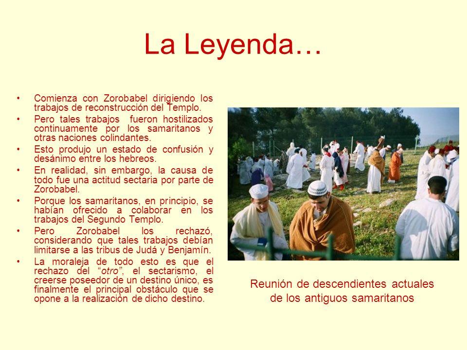 La Leyenda… Comienza con Zorobabel dirigiendo los trabajos de reconstrucción del Templo. Pero tales trabajos fueron hostilizados continuamente por los