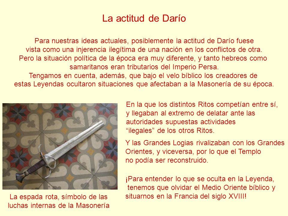 La actitud de Darío Para nuestras ideas actuales, posiblemente la actitud de Darío fuese vista como una injerencia ilegítima de una nación en los conf