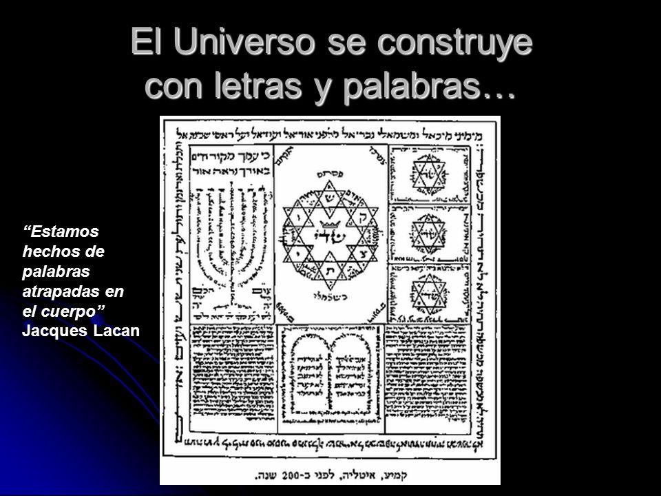 El Universo se construye con letras y palabras… Estamos hechos de palabras atrapadas en el cuerpo Jacques Lacan