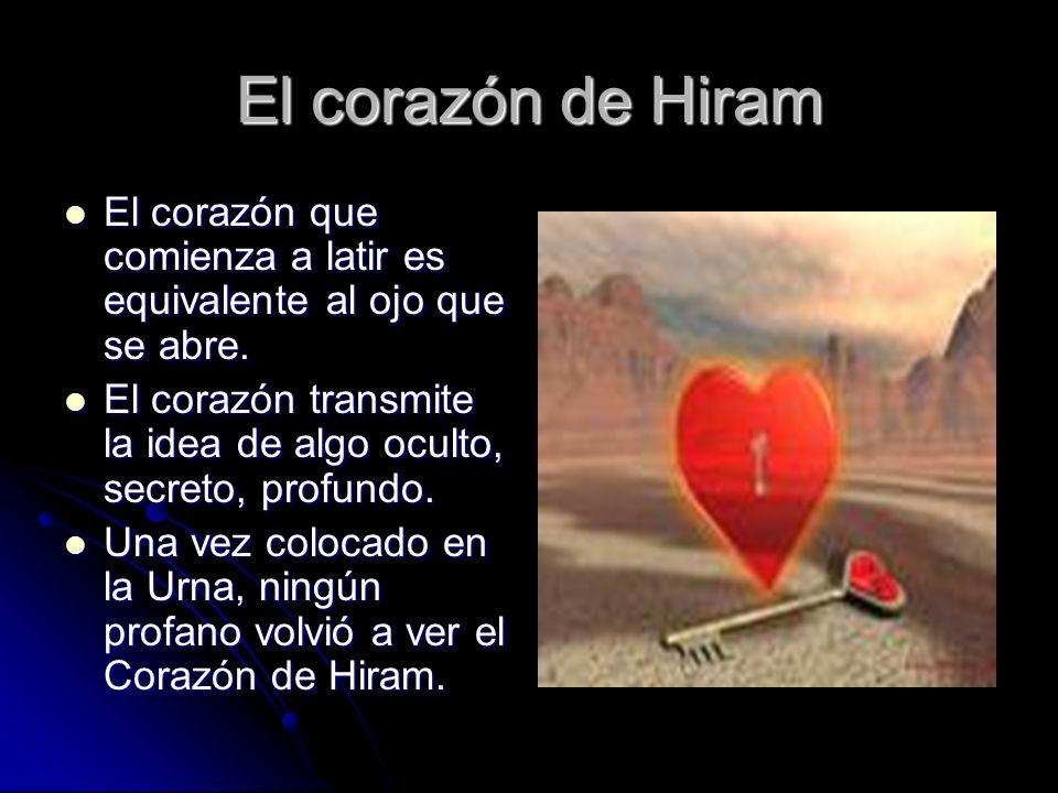 El corazón de Hiram El corazón que comienza a latir es equivalente al ojo que se abre. El corazón que comienza a latir es equivalente al ojo que se ab