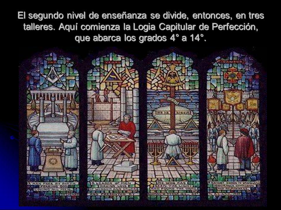 En la imagen anterior (obtenida en el sitio de la Gran Logia de Venezuela) vemos los cuatro niveles del Rito Escocés.