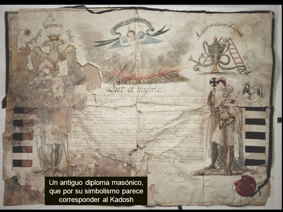 Un antiguo diploma masónico, que por su simbolismo parece corresponder al Kadosh