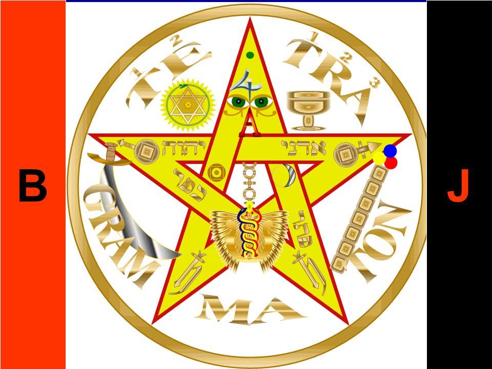 VIII. La Estrella Se le presenta al Candidato la Estrella de la Mañana (el Lucífero), en la forma del Pentagrama Dorado, rodeado de nubes. El Maestro