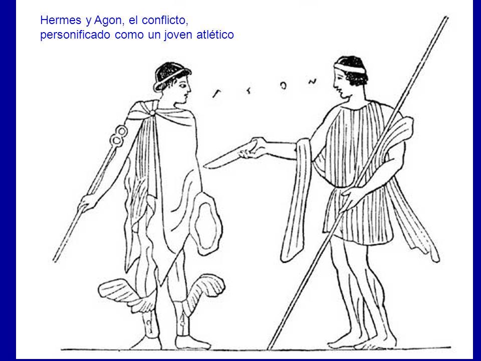 Areté y Agon El conflicto (agón) era básico para los griegos. El conflicto es la medida de las cosas. Las cosas se comparan en conflicto continuamente