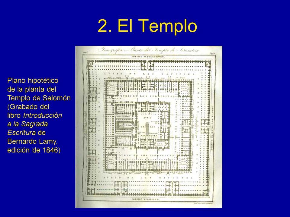 2. El Templo Plano hipotético de la planta del Templo de Salomón (Grabado del libro Introducción a la Sagrada Escritura de Bernardo Lamy, edición de 1