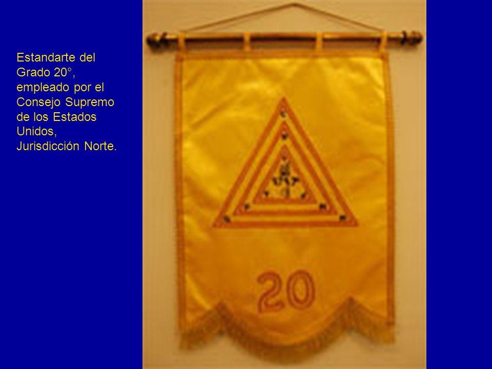 Estandarte del Grado 20°, empleado por el Consejo Supremo de los Estados Unidos, Jurisdicción Norte.