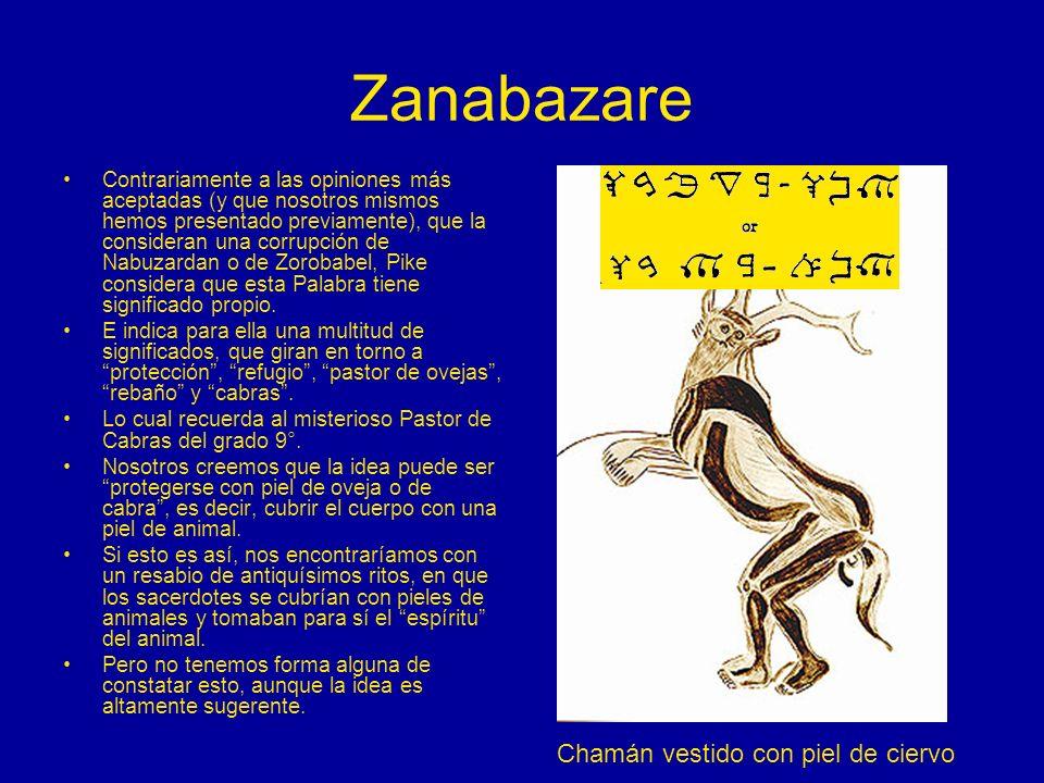 Zanabazare Contrariamente a las opiniones más aceptadas (y que nosotros mismos hemos presentado previamente), que la consideran una corrupción de Nabu