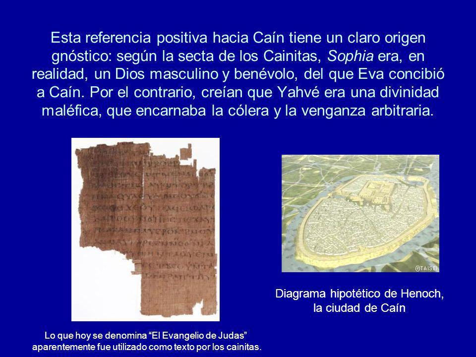 Esta referencia positiva hacia Caín tiene un claro origen gnóstico: según la secta de los Cainitas, Sophia era, en realidad, un Dios masculino y benév