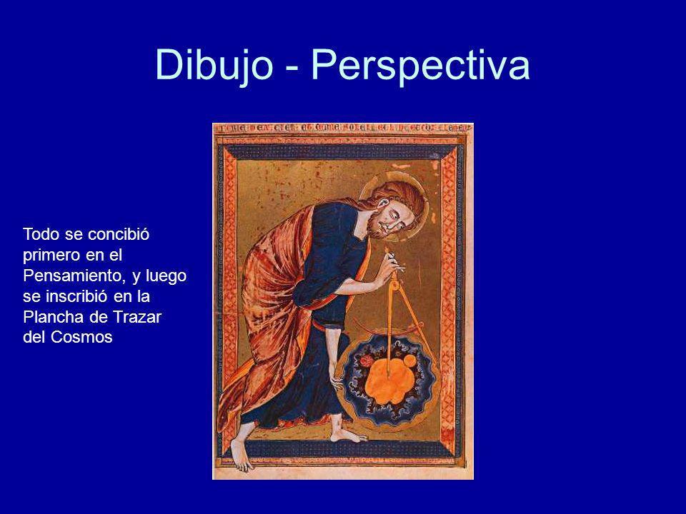 Dibujo - Perspectiva Todo se concibió primero en el Pensamiento, y luego se inscribió en la Plancha de Trazar del Cosmos