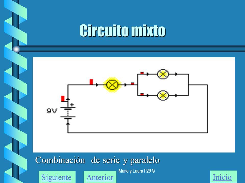 Mario y Laura P29 © Circuito mixto Inicio SiguienteAnterior Combinación de serie y paralelo