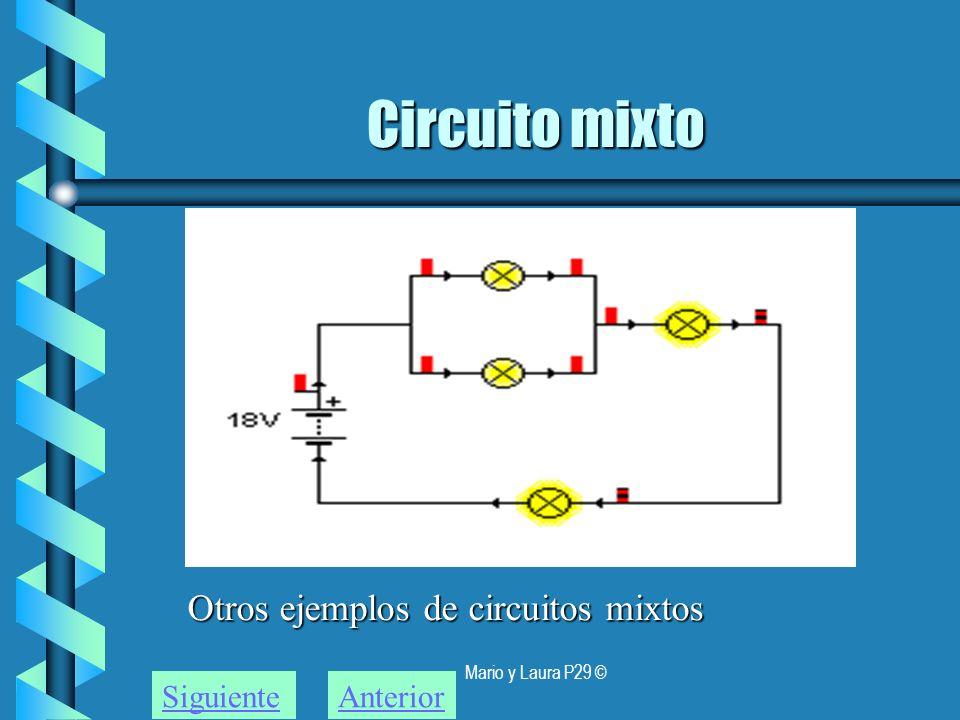 Mario y Laura P29 © Circuito mixto Otros ejemplos de circuitos mixtos SiguienteAnterior