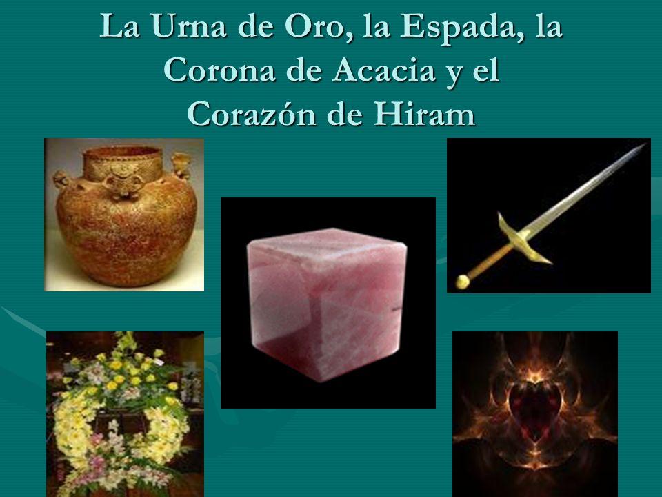 La Urna de Oro, la Espada, la Corona de Acacia y el Corazón de Hiram